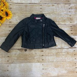 Girls black jacket by Genuine kids. Size 12 months
